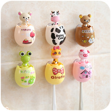 1 Pc Toothbrush Holder Bathroom Accessories Kids Animal Toothbrushes Rack Shelf Toothpaste Dispenser Squeezer Tooth Brush(China)