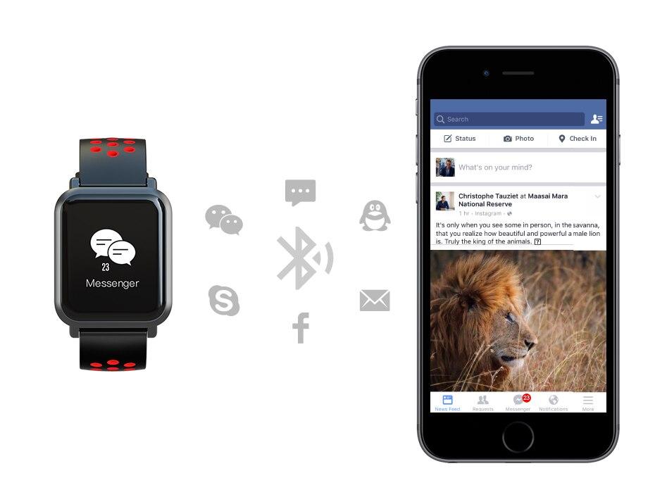 COLMI Smart Watch SN60 2.5D OLED Screen Gorilla Glass Fitness Clock Blood pressure IP68 Waterproof Activity Tracker Smartwatch