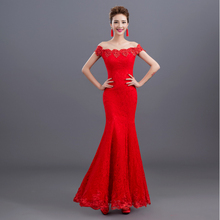 2017 formal fashionable red women mermaid dinner dress ladies elegant long dresses unique evening gown free shipping S3114