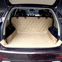 High quality Dog Seat Cover for Car soft SUV dog Car Trunk Mat Pet Barrier Protect Car floor from Spills and Pet Nail Scratches(China)