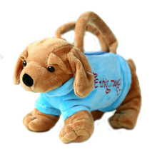 3D Dog Bags Kid Toys Handbag 25*10cm(China)