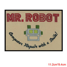 MR ROBOT FSOCIETY iron/high quality television patch seam in the United States to sell computer repair and a smile