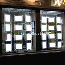 16PCS A4 +8PCS A3 LED Window Display System,Real Estate Agent Window Hanging LED Poster Display Frames Light Boxes(China)