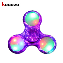 Buy New Anti Stress LED Antistress Toys Finger Spinner Hand Spinner Finger Gyro Autism ADHD for $5.47 in AliExpress store