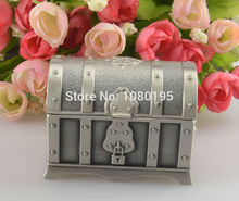 Pirates of the Caribbean Treasure Chest Box Fashion Metal Jewelry case trinket gift alloy box PA27965