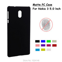 "For Nokia 3 Android Phone 2017 5.0"" New Slim Matte Hard Plastic Case Candy Color Frosted Anti-fingerprint PC Cover"