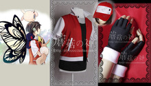 Pokemon Trainer Ash Katchum Aed Red Cosplay Costume custom any size