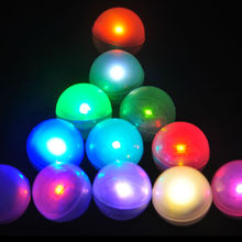 Fairy LED Pearls!!!(48pcs/Lot) Wedding Decoration 2CM Mini Colorful Small Battery Led Berries Waterproof Floating LED Lights(China)