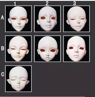 Free Shipping Resin BJD Head, BJD Doll Head<br>