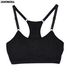 Fitness Bra Women Vest Crop Top Padded Bras Shakeproof Wirefree Underwear Push Up Bra Top(China)
