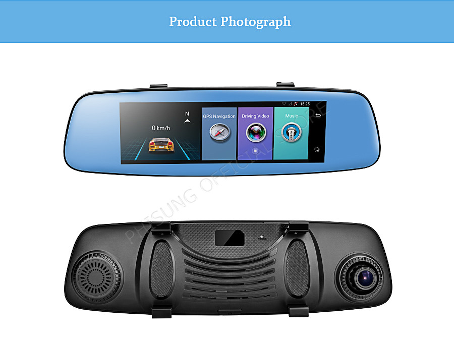 "Phisung E06 4G Car DVR 7.84"" Touch ADAS Remote Monitor Rear view mirror with DVR and camera Android Dual lens 1080P WIFI dashcam 19"