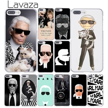 Lavaza Fashion Karl Lagerfeld Green Hard Coque Shell Phone Case for Apple iPhone 8 7 6 6S Plus X 10 5 5S SE 5C 4 4S Cover