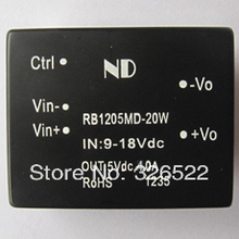 DC DC converters 12V to 5V 20W Single output Isolataed dc-dc power supply modules