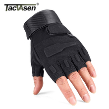 TACVASEN Men Military Tactical Gloves Half Finger Combat Gloves Anti-slip Hunt Gloves Army Airsoft Paintball Gloves TD-YWHX-016(China)