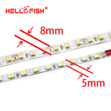 Hello Fish 5mm Width,5M 2835 600 SMD,LED strip,12V flexible120 led/m LED tape, white/warm white/blue/green/red/yellow(China)
