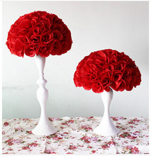 New 20cm*5pcs/lot Rose kissing ball artificial silk flower wedding party decoration different color for choosing