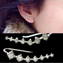 Korean fashion jewelry Big Dipper zircon Earrings Set 7 Rhinestone Beautifully star stud earrings for women Trendy Jewelry(China)