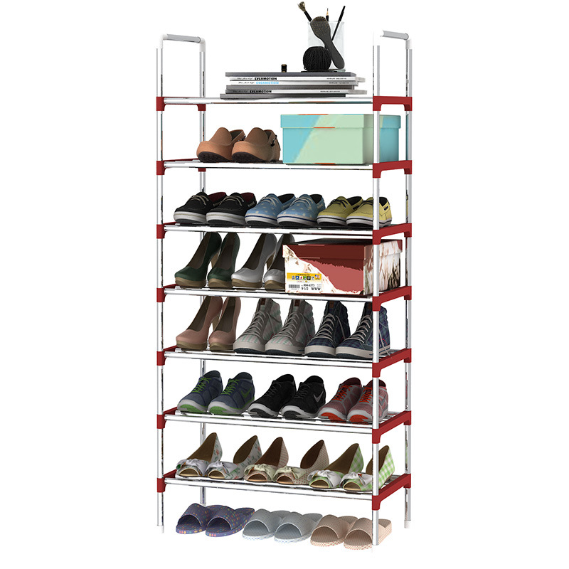 Modern minimalist fashion collapsible space saving shoes organizer furniture non-woven assembly shoes closet 8 layers shoes rack<br>