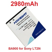 HSABAT 2980mAh BA900 Mobile Phone Battery Use for Sony Xperia TX LT29i / J ST26i / L S36h / C2104 / C2105 Phone