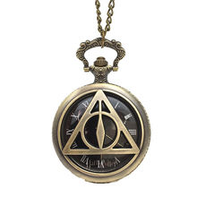 Buy HOMOD Fashion Quartz Harry P Pocket Watch Pendant Necklace Man Retro Vintage Men Cute Cartoon Bronze Kids Gift for $2.67 in AliExpress store
