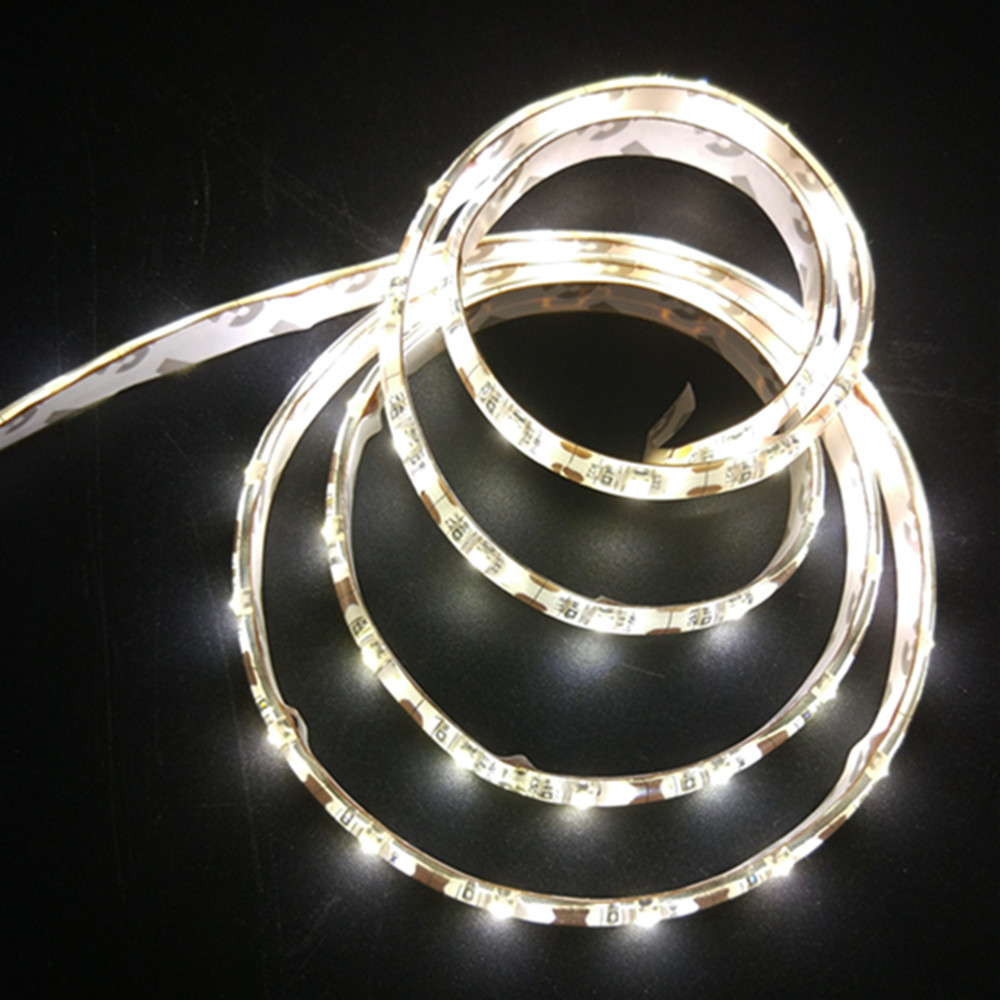 Waterproof 1M AA Battery Powered LED Strip 60leds 4.5v 3528 SMD LED Ribbon Fexible Tape Home Room TV Background Decoration Light(China (Mainland))