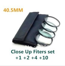 4 pcs 40.5mm 40.5 mm Close up Macro +1 +2 +4 +10 SLR Lens Filter Kit Set For 40.5mm Lens filter