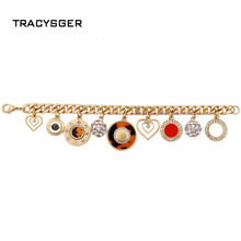 NR-sl00597 /TRACYSGER /sweet girl jewerly /  fashion style  alloy restoring  leopard pendant female bracelet