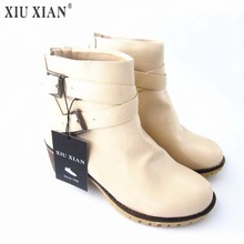 Autumn and Winter Women Boots Vintage Europe Star Fashion Women High Heels Ankle Boots Snow Short Boots Zipper Plus Size 34-43