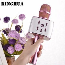 New Mini Portable Stereo Mini Karaoke Microphone Player Bluetooth Speaker KTV Effect Support TF card with Original Retail Box(China)