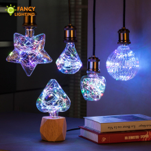 Led Light Bulb A60/Heart/Star/globe rgb led lamp e27 3w novelty string lamp bulb 110/220v Firework lamparas led for home decor(China)