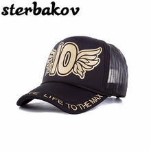 Fashion summer letters 10 baseball cap man snapback cap girl net hat casquette embroidery letter hat men ladies clothing hat