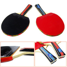 Table Tennis Racket Long Handle Shake-hand t Ping Pong Paddle + Waterproof Bag Pouch Indoor Table Tennis Accessory(China)