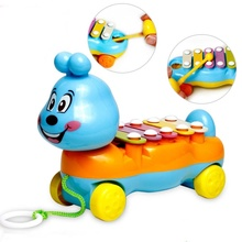 2017 Brand New Colorful Intellectual Development Hand Knock Piano Musical Instrument Wooden Early Education Toy