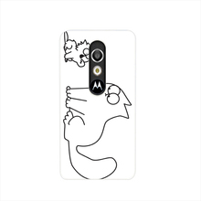 19368 simon cat custom cell phone case cover for For Motorola Moto G3 G4 X+1 PLAY PLUS ONE style