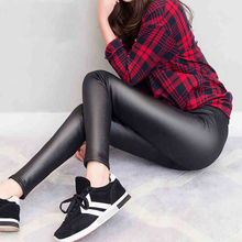 Buy MAIJION 2017 New Fashion Women PU Leather Ankle-Length Pants, Slim Pencil Trousers Low Waist Sexy Elastic Leggings Woman for $4.98 in AliExpress store