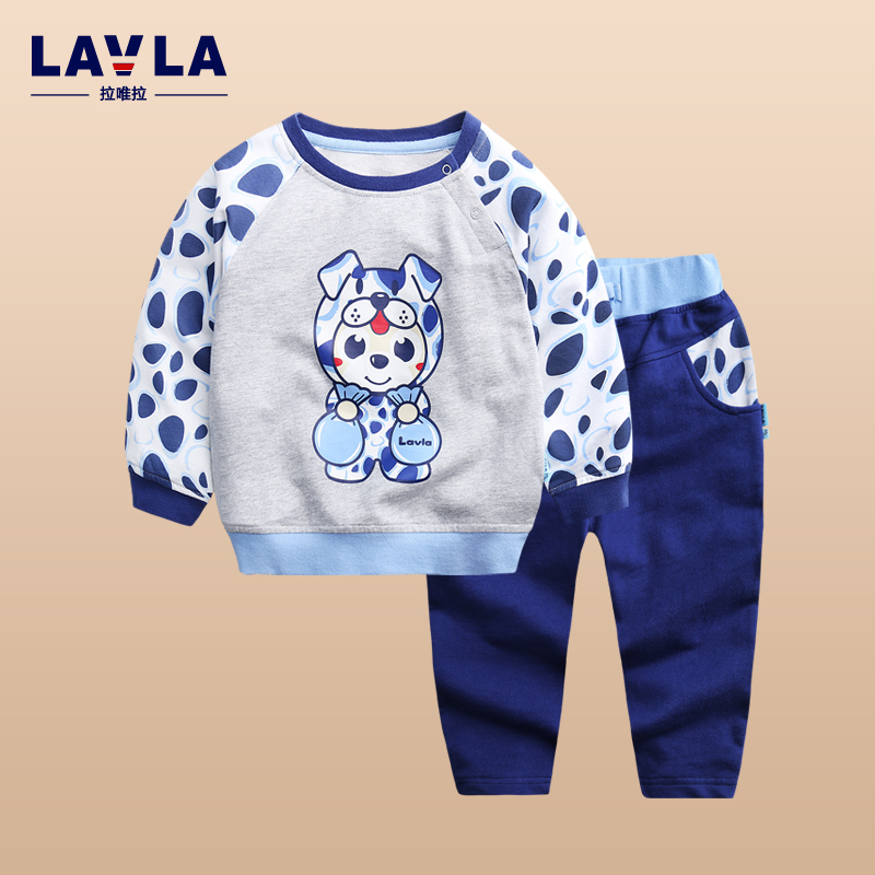 2017 LAVLA Fashion Casual Sports Suits Children Clothing sets Autumn Winter Cotton Baby girls boys clothes hoodie and trousers<br>