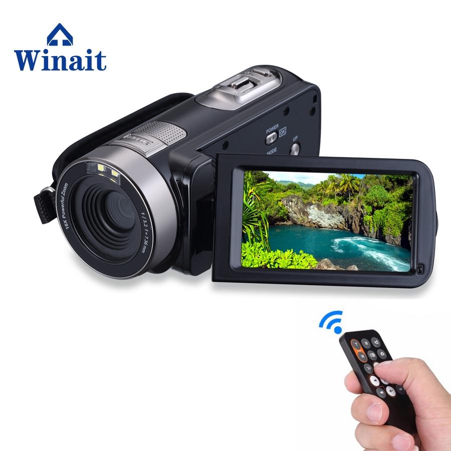 "Winait Full hd 1080p Night Vision Digital video Camera, 3.0"" Touch Display, MAX 24MP mini DV,16X Digital Zoom Camcorder"