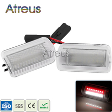 2X Car LED Door Welcome Lights 12V White+Red SMD3528 LED Courtesy Lamp For Toyota Camry Crown Prius For Lexus IS250 RX350 LS430