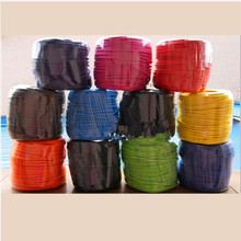 Round Textile Electrical Wire Fabric Cable Vintage Lamp Power Cord retro wire vintage braided cable power cord+accessory