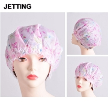 Lace Sanitary Ware Suite Women Ladies Flower Printing Elastic Shower Caps Plastic Waterproof Spa Bathing Hair Cap Hat(China)