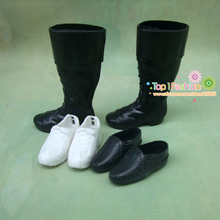 Free shpping 3pairs /lot shoes for 1/6 doll Shoes for barbie doll boy friend male ken doll(China)