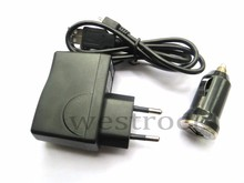USB travel Wall charger&Micro USB data Cable &Car Charger For Samsung Galaxy Note2 LTE N7100 N7105 T889 Sprint L900 Verizon i605(China)