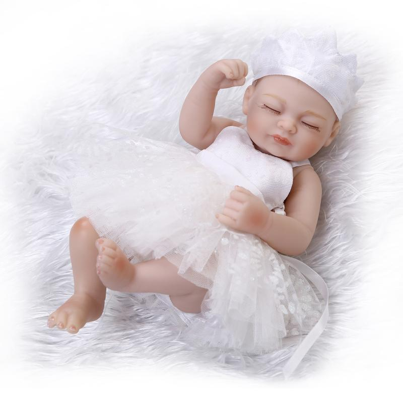 hot sale solid silicone reborn baby dolls wholesale lifelike baby soft princess lace dolls fashion doll Christmas birthday gift<br><br>Aliexpress