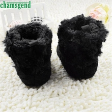 CHAMSGEND Best Seller   Baby Snow Boots Soft Warm Crib Shoes Toddler Boots Black S40