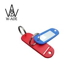 80pcs Soft Key Ring Tag Hotel Room Check Office Name Mark Organizer Waterproof Colorful Hang Tag say hi 50405S