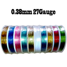stainless steel wire 0.38mm tiger tail beading wire thread cord,coated with plastic protective film wire