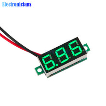 0.36 Inch Mini LED Digital Voltmeter Green Panel Voltage Meter DC 4.7~32V 3-Digit Display Adjustment Voltmeter(China)