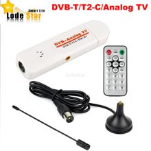 New DVB t2 tv stick Analog usb TV Tuner Digital Satellite TV Receiver with antenna Remote TV Receiver for DVB-T2/T/C/FM/Analog