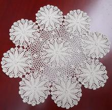 Modern Cotton Crochet tablecloth white flower Table cloth towel mat lace DIY round Table Cover doilies for party wedding decor