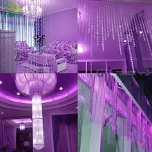 5M 14mm Octagonal Acrylic Crystal Beads Curtain Iridescent Garland Strand Shimmer Curtains Party Wedding Decoration